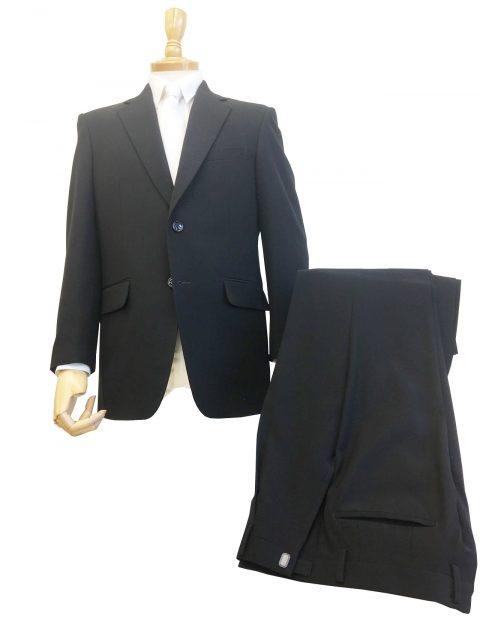 超黒染め仕上げ2ツボタン1タックシングル礼服/レギュラースタイル