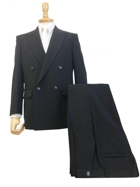 国内生地染色超黒礼服/4つボタン1タック・アジャスター付き