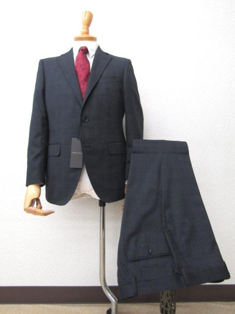 スタジオバイダーバン 【タスマニアウール】ダークグレーチェック2Bスーツ