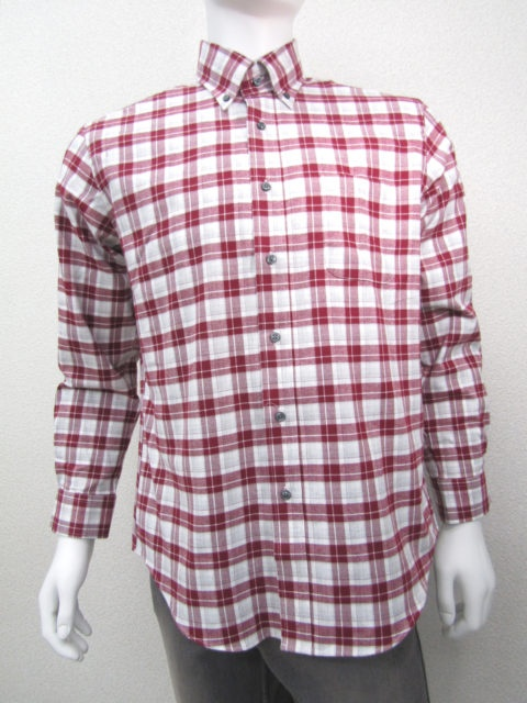 秋冬綿100%ネル素材BDチェックシャツ