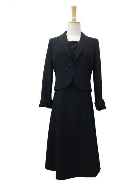 【ブラックフォーマル】リボン付きヘチマカラージャケット/ワンピース