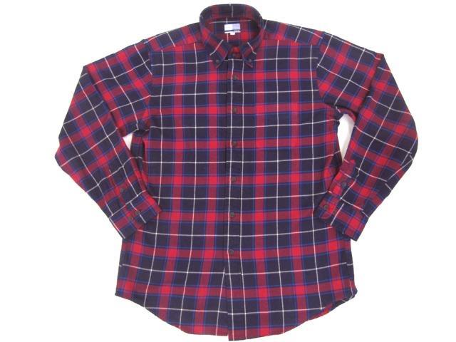 綿100%ネル/ボタンダウンチェックシャツ/2色展開M~LL